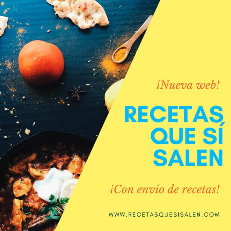 Nueva web Recetas Que Sí Salen