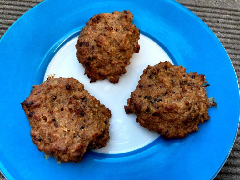 Galletas de avena con ciruelas (sin gluten, sin lactosa y sin azúcares añadidos)